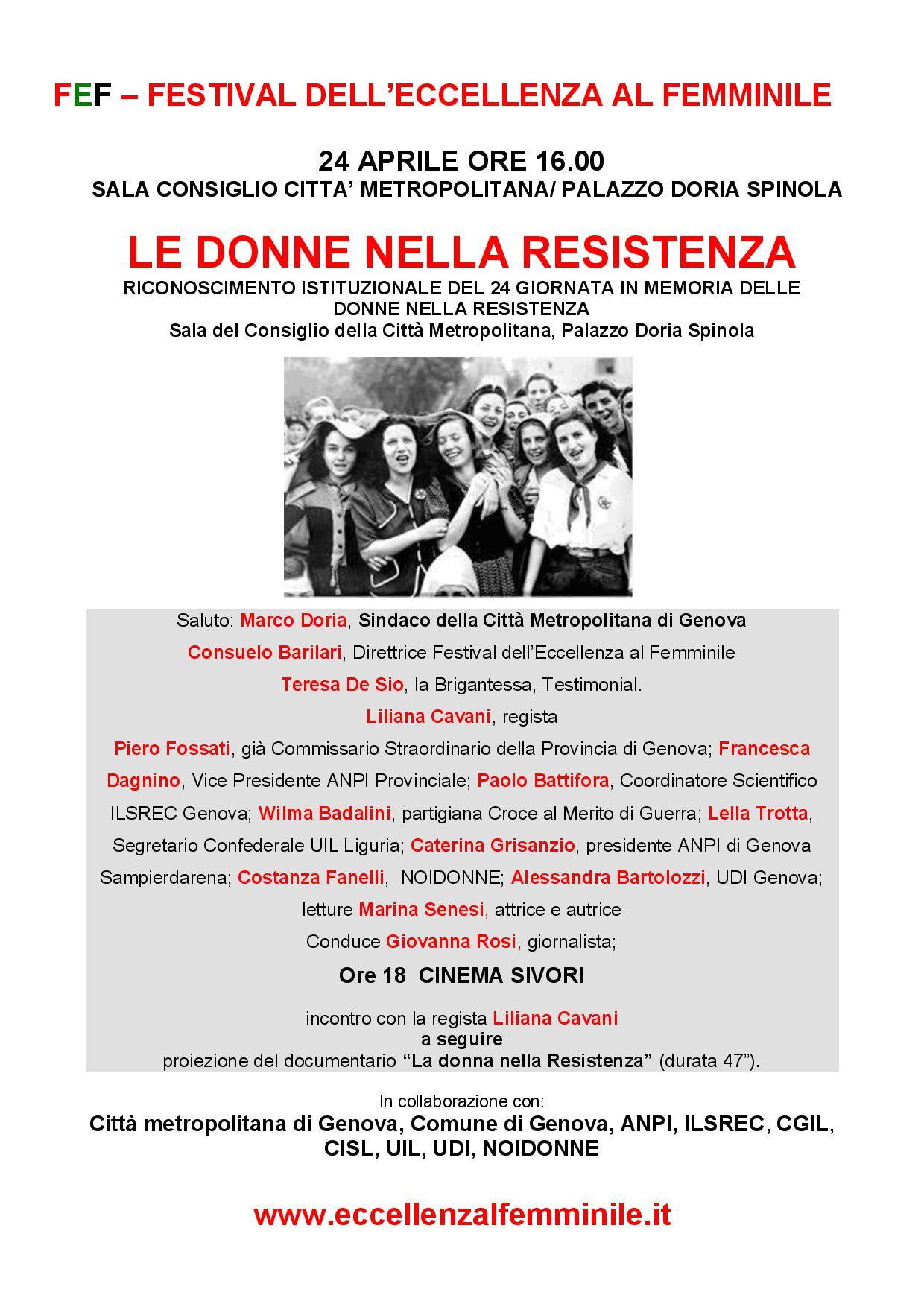 Festival dell Eccellenza al Femminile - Documento conclusivo Le donne della Resistenza 24 aprile 2015-page-001