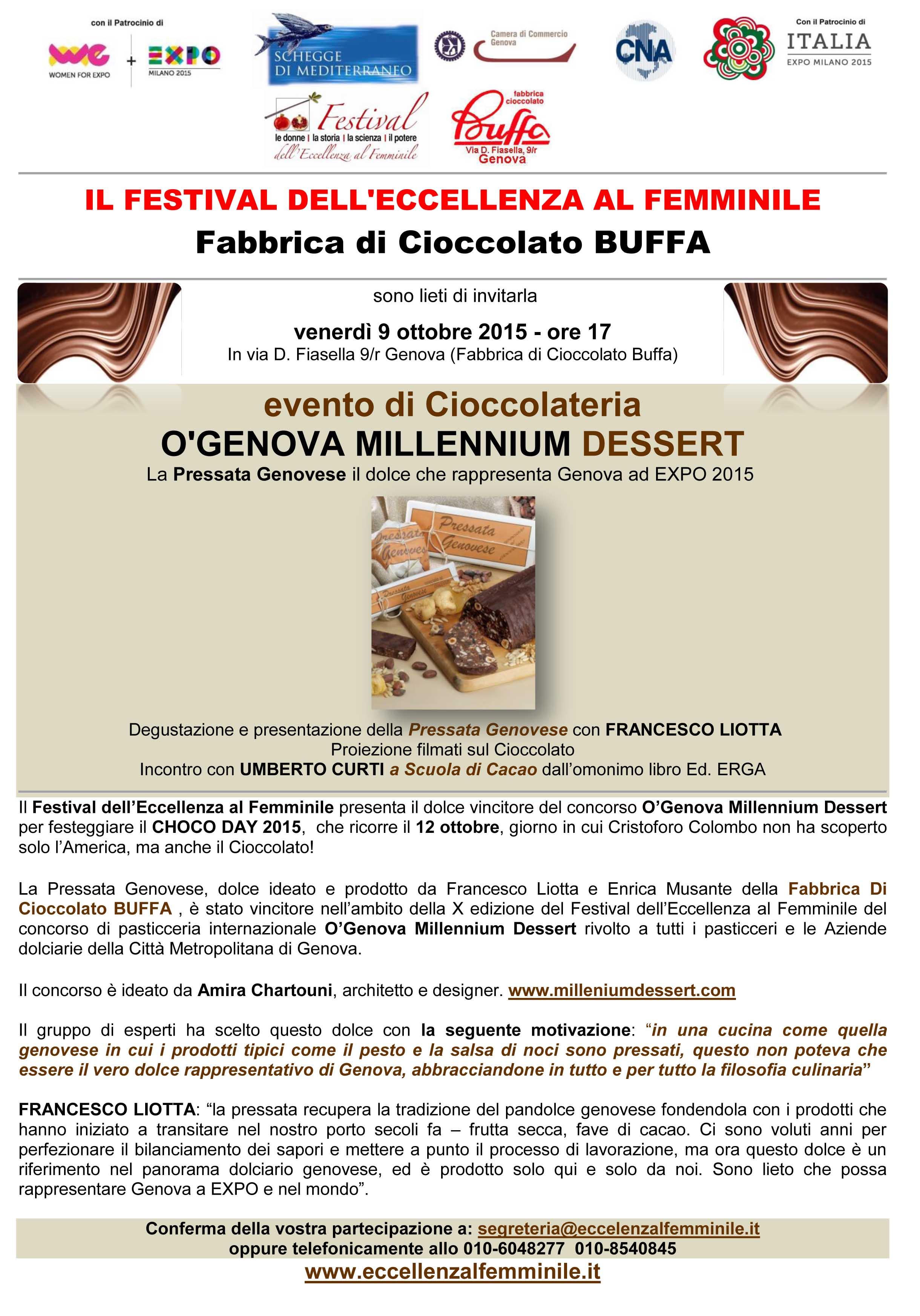 INVITO EVENTO BUFFA FABBRICA DEL CIOCCOLATO